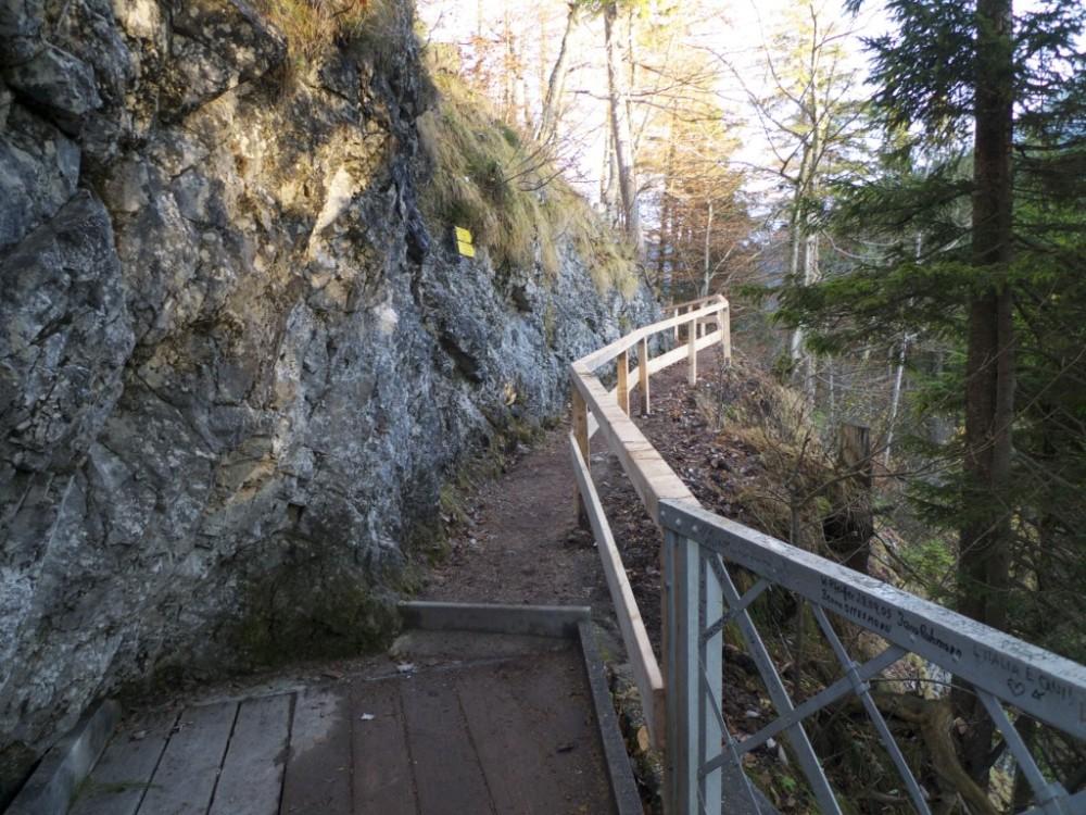 Polku huipulle olisi lähtenyt Marienbrückeltä, sillalta jossa olin edellisenä päivänä seissyt ihailemassa Neuschwansteinia.