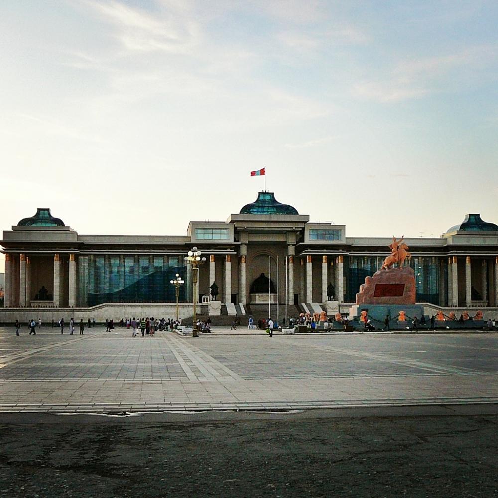 Maalaus Mongoliasta