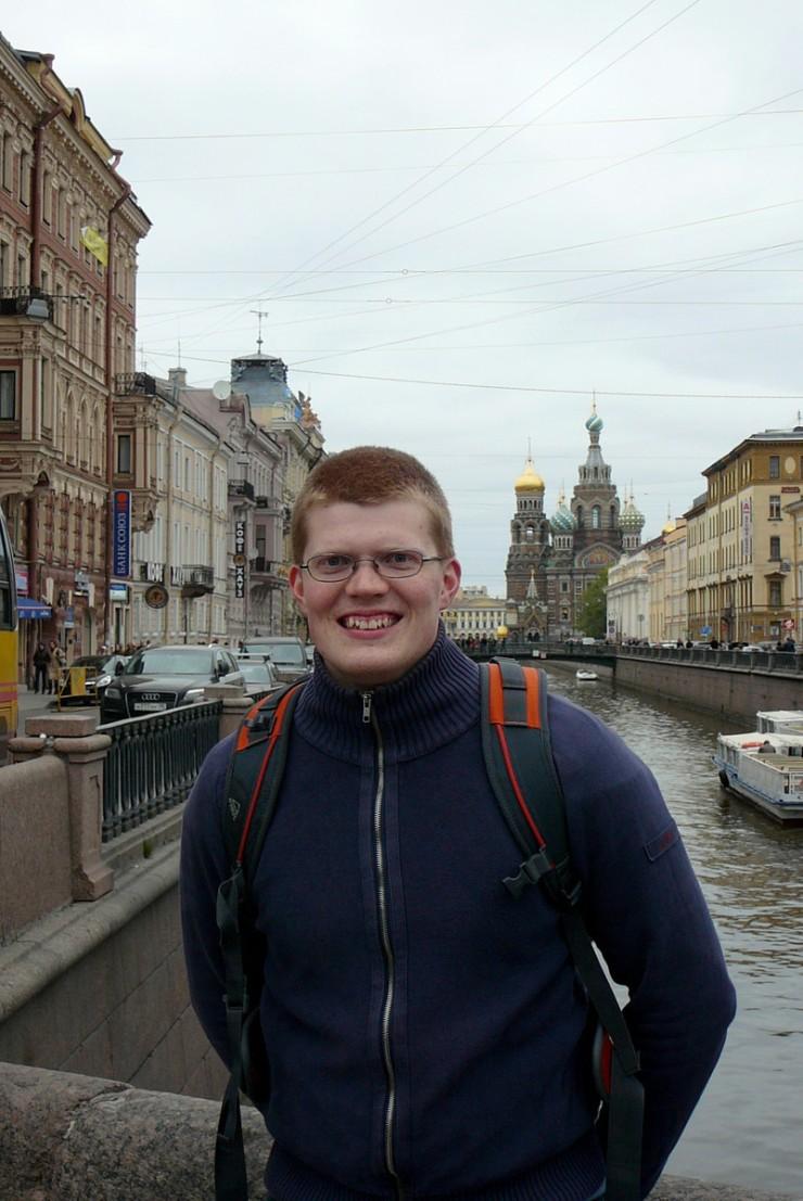 Pietarissa yliopiston ainejärjestöni kanssa toukokuussa 2009.