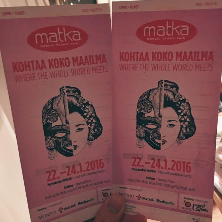 Voita liput Matkamessuille 2016