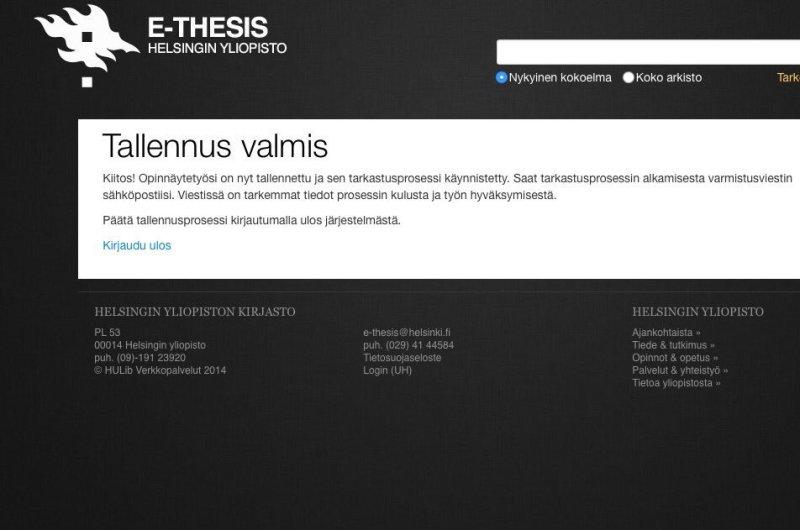 Gradu Helsingin yliopisto e-thesis